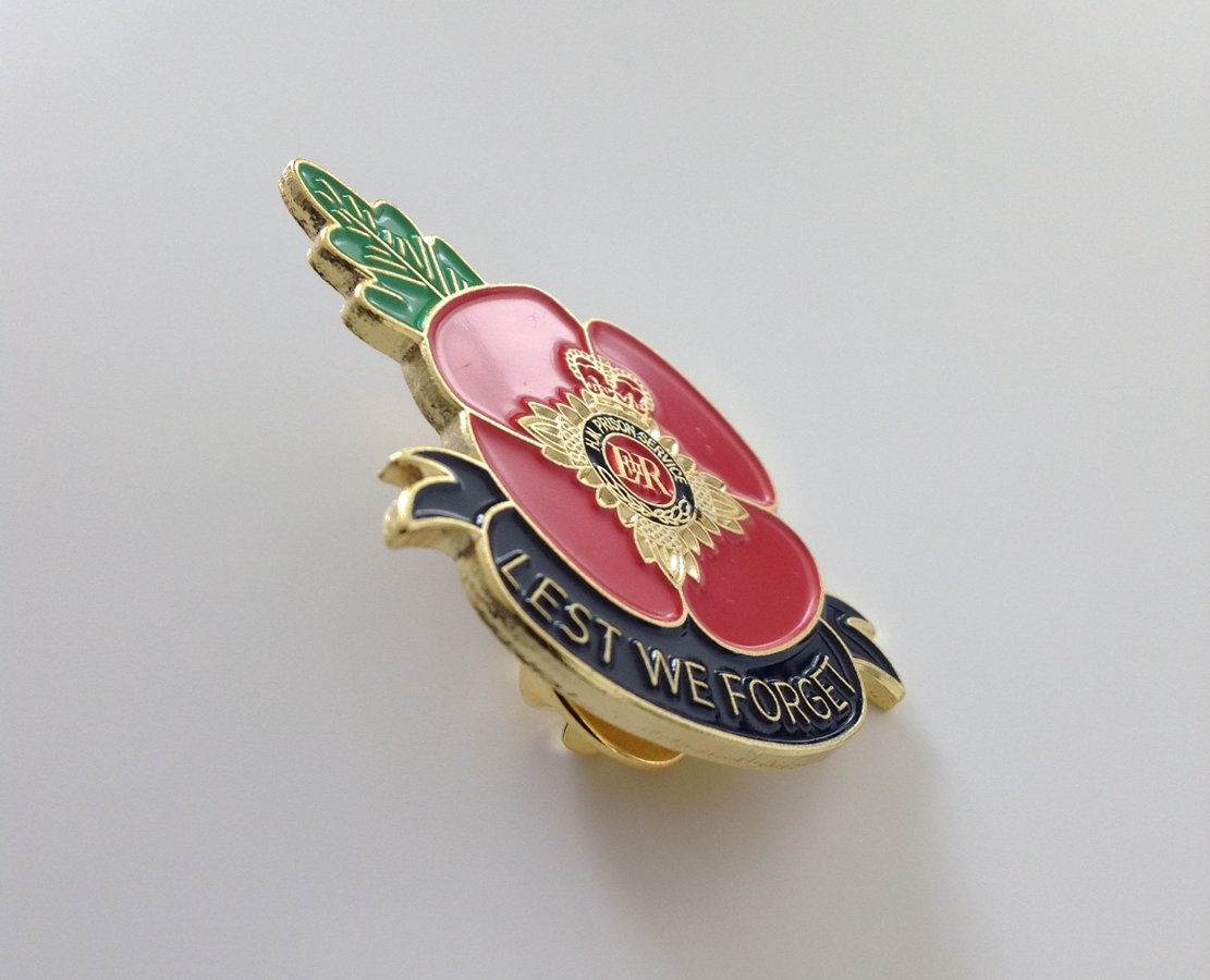 Prison Service Officer Enamel Remembrance Pin Badge