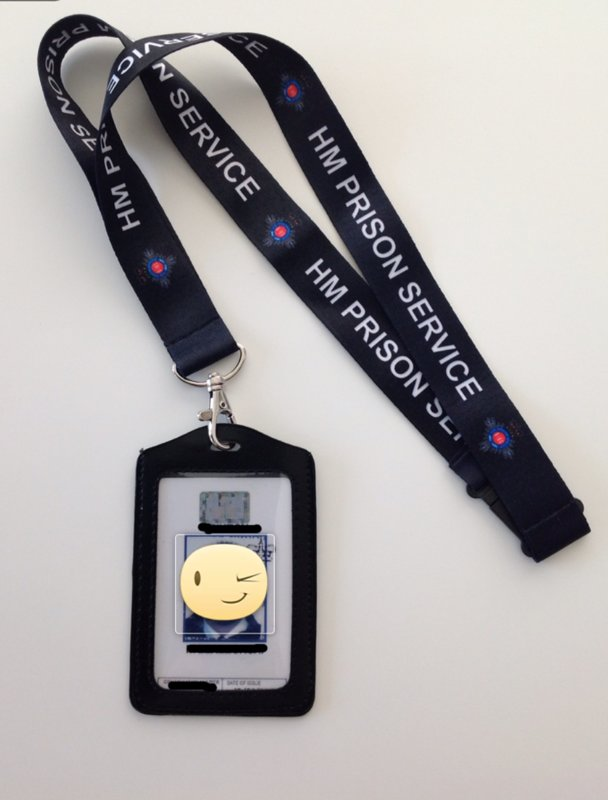 HMP Prison Officer ID Holder / Lanyard