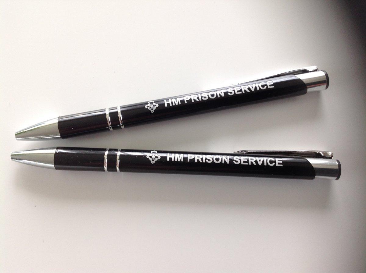 Two Metal Prison Service Pens