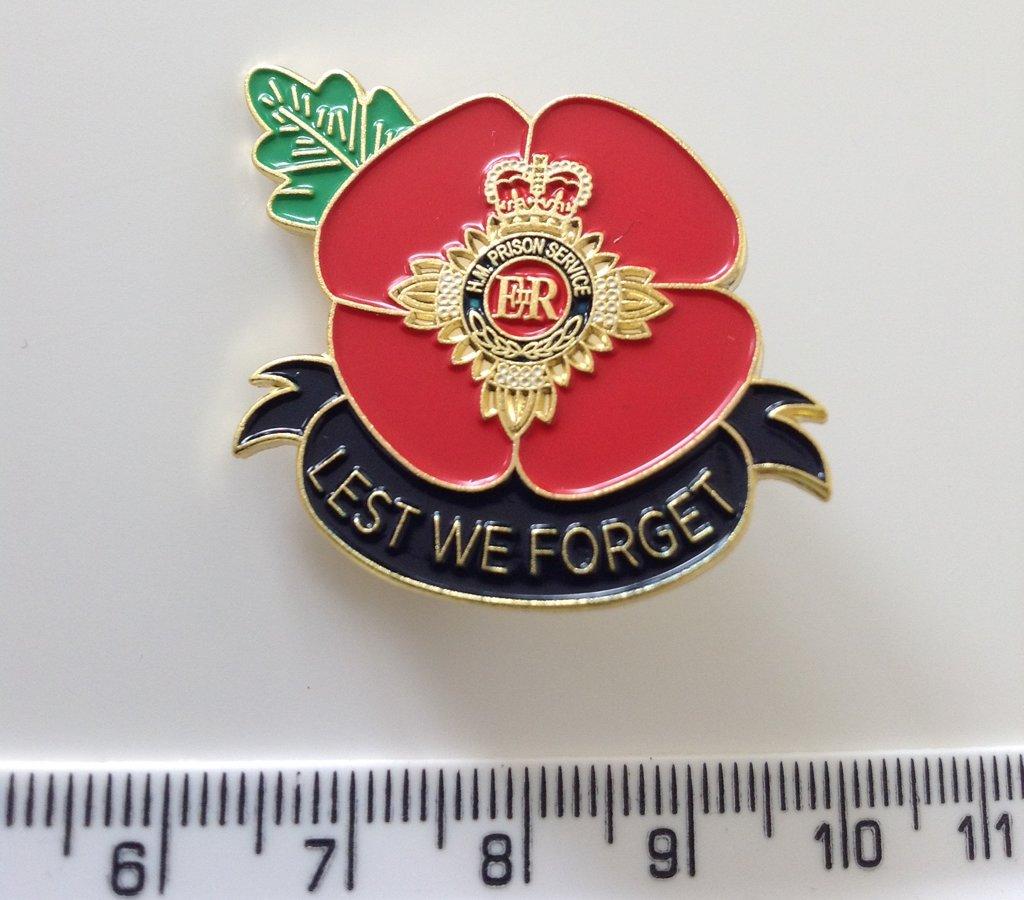 Prison Service Officer Enamel Remembrance Pin Badge