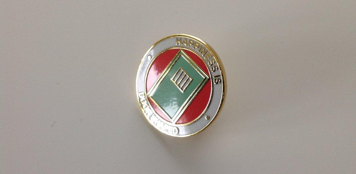 Happiness Is Door Shaped Pin Badge